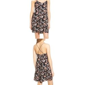 LUSH 90s Style Floral Crossback Slip Dress Small